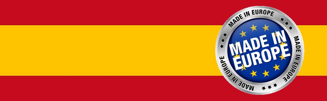 Fabricado en Europa, Fabricado en España.